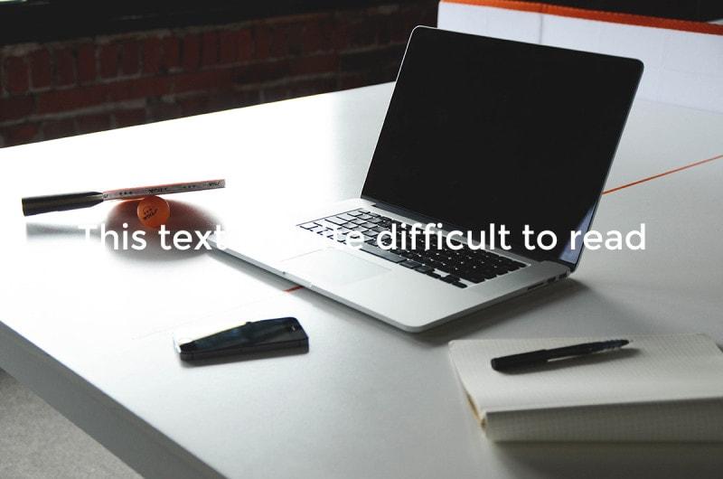 Фон, неподходящий для наложения текста